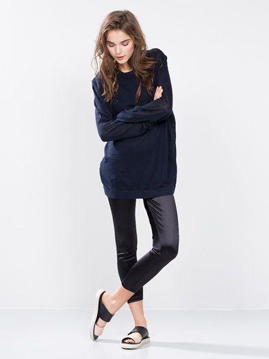 Linnen Long pullover | 7165193 | Sininen | BikBok | Suomi