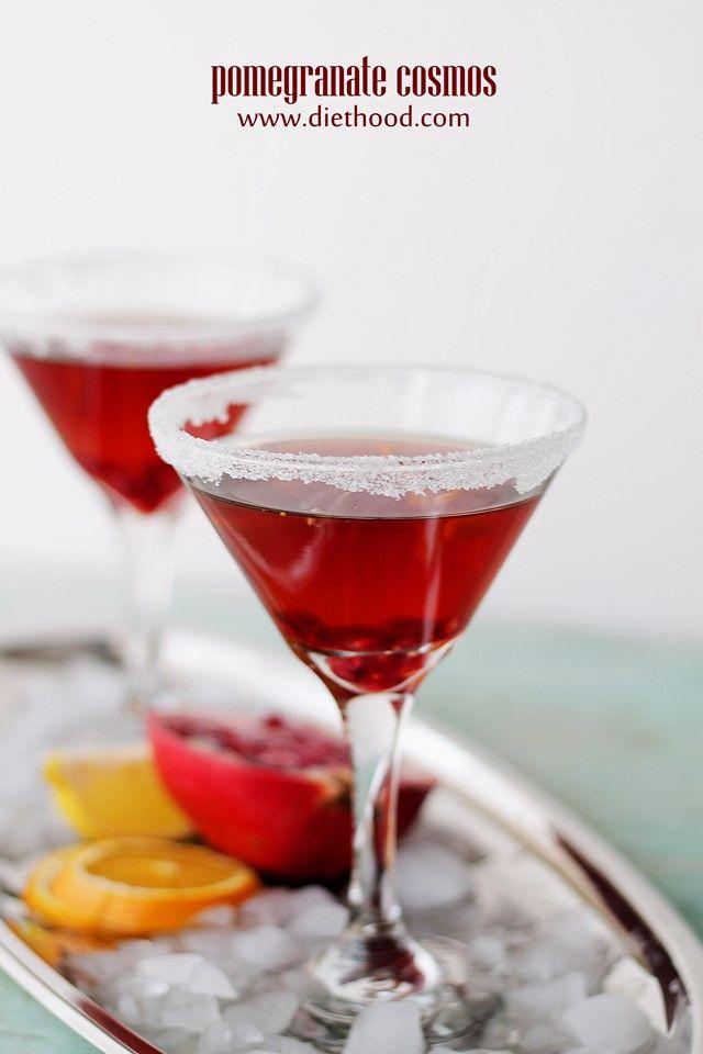 Pomegranate Cosmos | www.diethood.com | #recipe #cocktails # ...