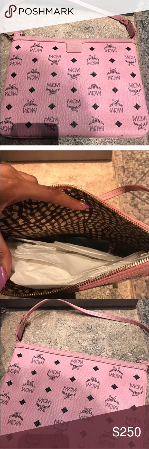Pink Mcm Clutch 👛 Pink Mcm Clutch 👛 pretty and pink new MCM Bags Clutches & Wristlets