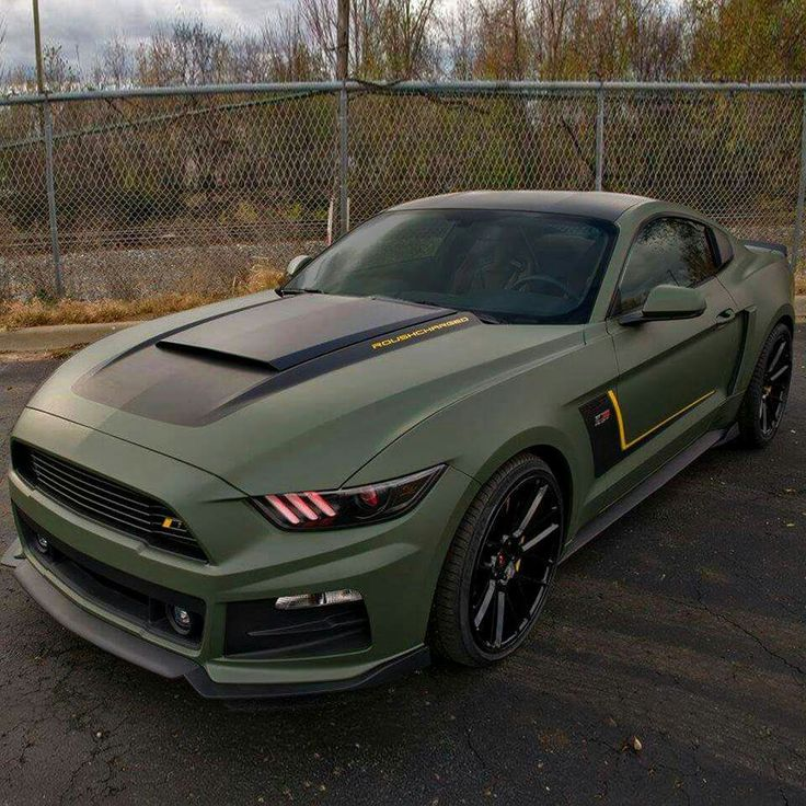Matte Military Green Roush Performance RST EcoBoost Mustang