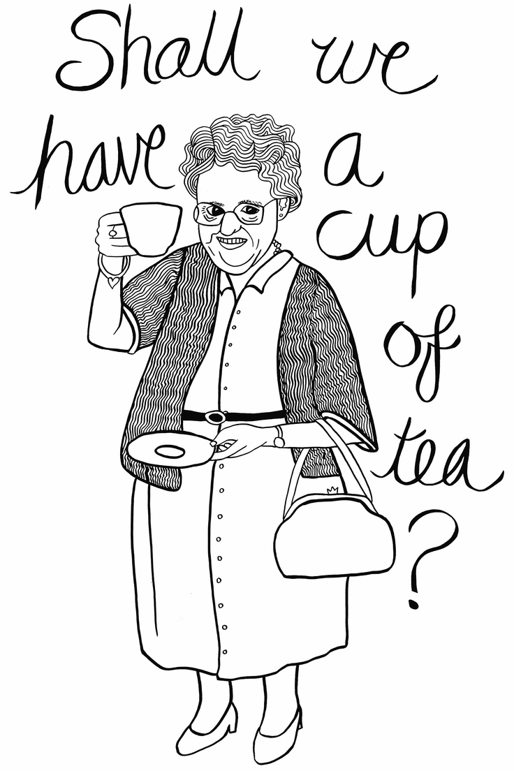 'Shall we have a cup of tea?' by Marama Mayrick for a tea towel exhibition 2013. Email me for orders marama.mayrick@gmail.com
