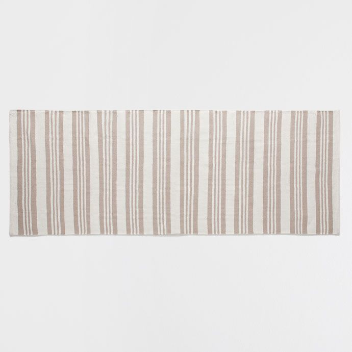 TWO-TONE STRIPED COTTON RUG