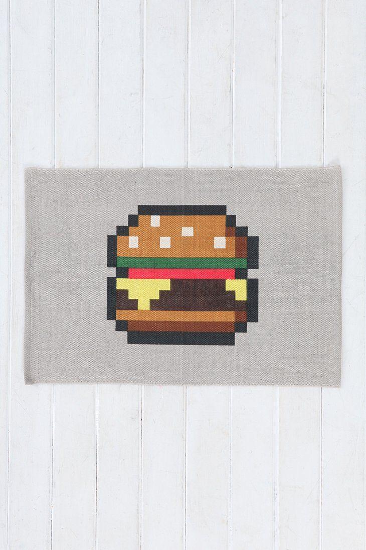 8 bit hamburger print decoration architecture home for 8 bit decoration