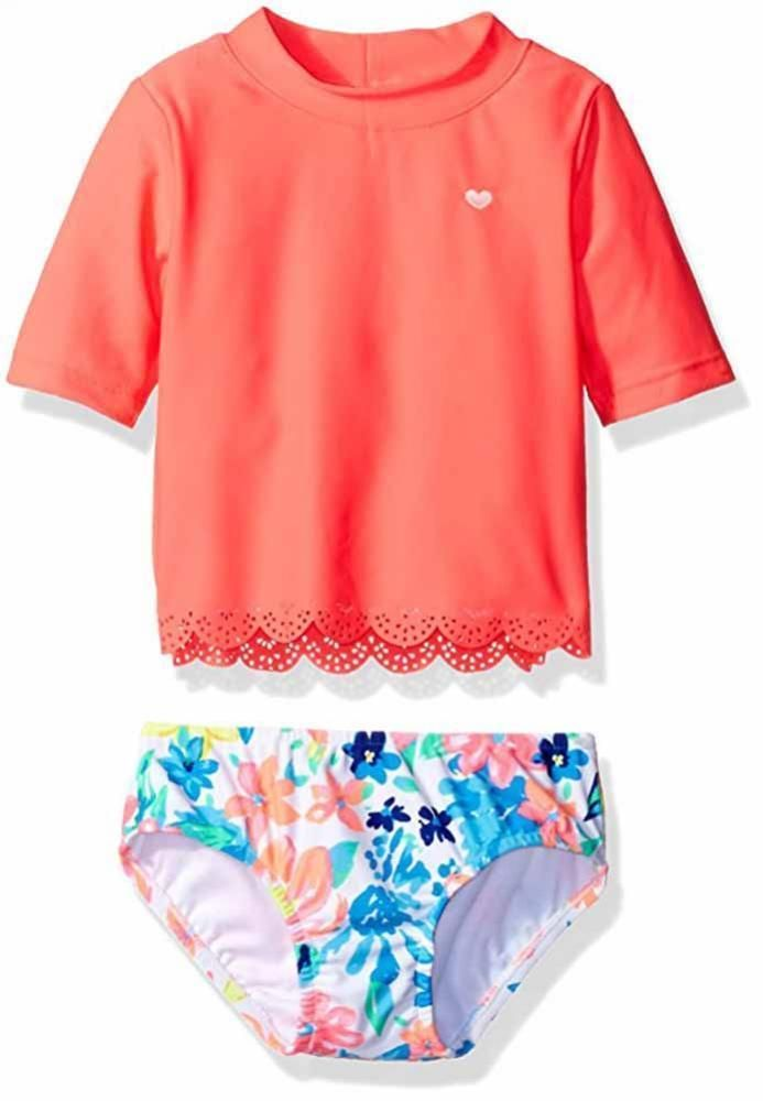 e2601f9c41 Carter's Infant Girls 2pc Rashguard Swim Set Size 3/6M 6/9M 12M 18M 24M $36  #Carters #RashguardSet