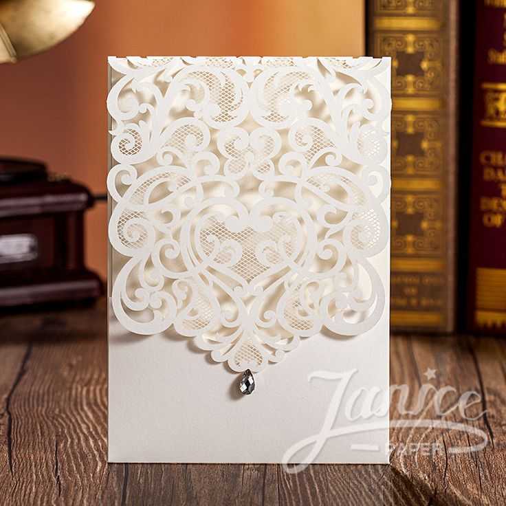 Exquisite Laser Cut White Pocket Wholesale Wedding