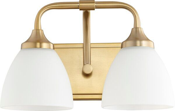Rhea 2 Light Vanity Light In 2020 Bath Vanity Lighting Vanity Lighting Brass Vanity Light