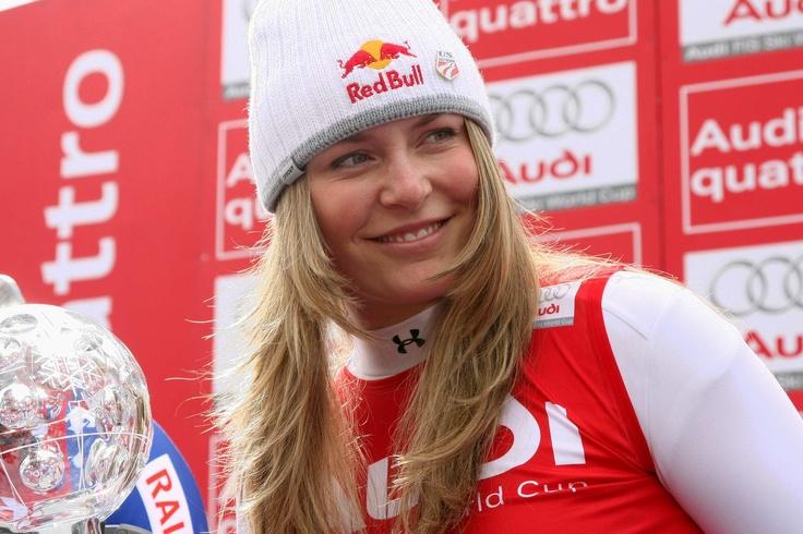 Lindsay Vonn. Radiant on the podium as always.