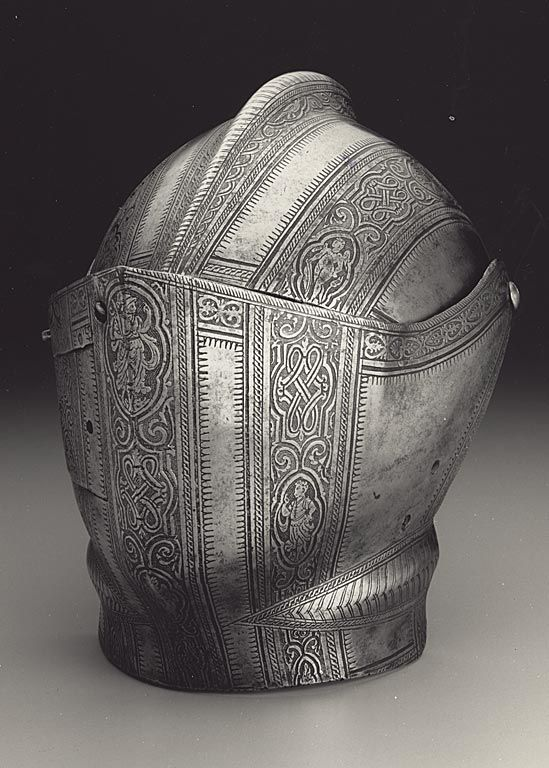 Italian, Visor and Bevor c.1580