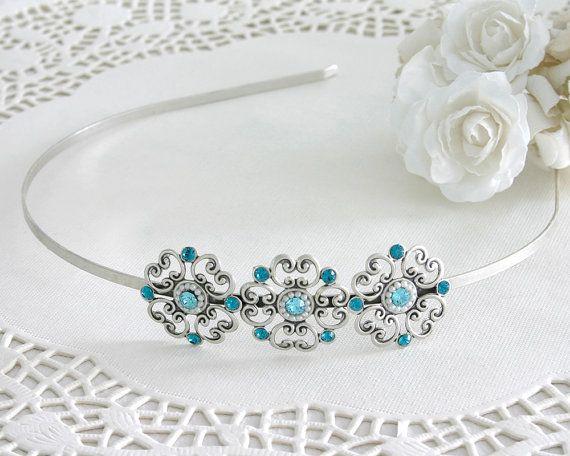 25% OFF,Blue bridal head pieces, Bridal hair #weddings #accessories @EtsyMktgTool http://etsy.me/2fZBQqZ
