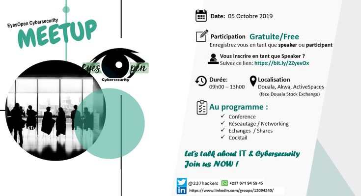 Eyesopen Cybersecurity Meetup Is A Meeting Of Enthusiasts Of Digital Technologies In General And Cybersecurit Cyber Security Conference Themes Meetup