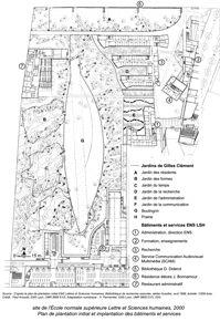 plan du jardin de l'ENS de Lyon réalisé par Gilles Clément
