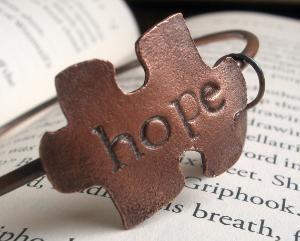 Hope for Autism.: Awareness Copper, Autismsensori Stuff, Autism Awareness, Bracelets, Hope Autism, Awareness Bangles, Autism Stuff, Rings, Puzzles Piece