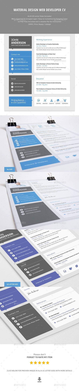 Material CV For Web Developer