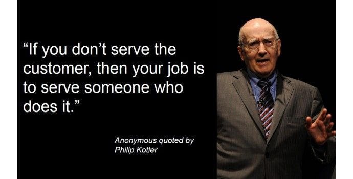 Philip Kotler quotes about sales and sales support?