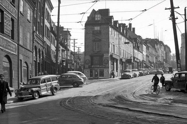 La côte de la Fabrique en 1947