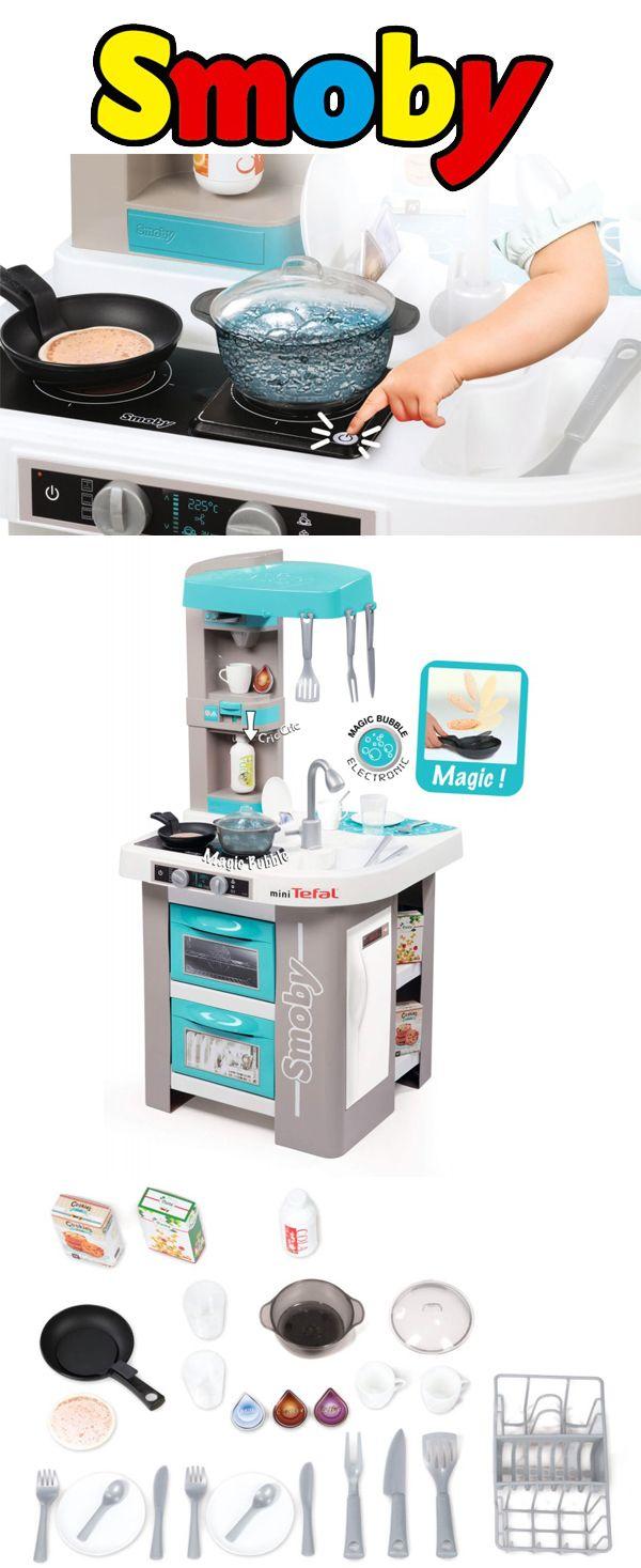 Smoby Kuchnia Mini Tefal Studio Bubble To Wszystko Czego Potrzebuje Mlody Kucharz Kuchnia Posiada Poleczki Piekarnik I Zmywarke Z Otwier Tefal Studio Mini