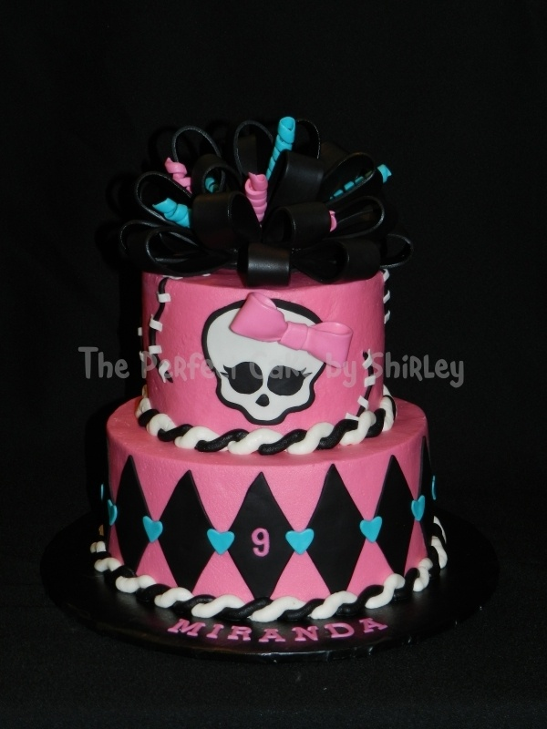 Monster High Skull Cake Decorations