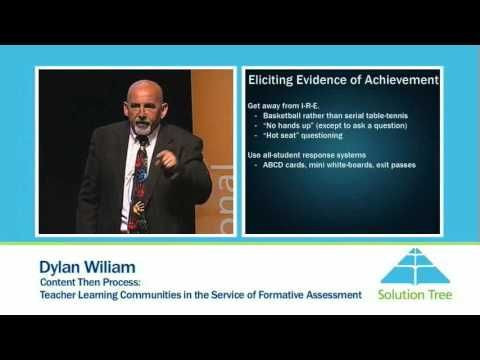 Solution Tree: Dylan Wiliam, Content Then Process -  Teacher Learning Communities in the Sfvice of Formative Assessment |YouTube (Interesting view of questioning skills)
