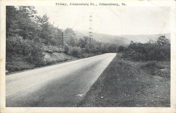 Johnsonburg Pennsylvania~Ridway~Johnsonburg Rd~1951 Postcard