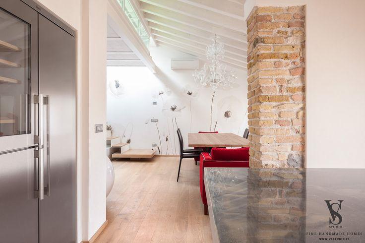 VS Studio - Fine handmade homes #interior design #interior scenography #sofa #night #mood #custom #luxurious resin top #historical attic renovation #italy