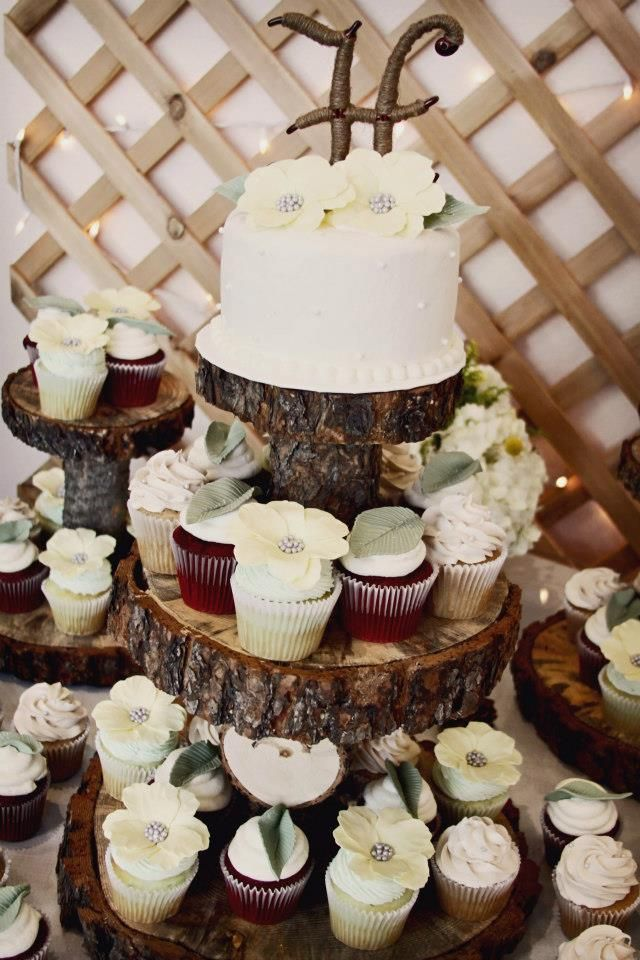 Rustic Wedding Cupcake Stands Victoria Champagne 12 Inch