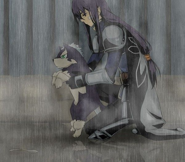 Tags: Anime, Tales of Vesperia, Yuri Lowell, Repede <- I wanted to cry here in the movie.