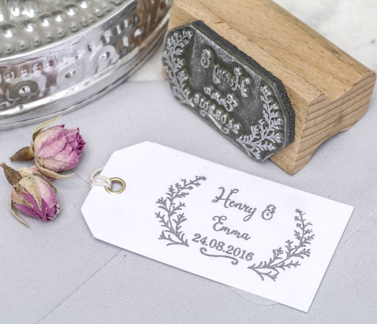 Our hand drawn wedding favour stamp is a lovely way to add your own botanical style to your handmade wedding favours or party staThere's nothing more satisfying than creating your own DIY wedding stationery but with our wedding favour stamp, you can ensure your homemade efforts look as professional as printed versions. The size of the stamped image fits perfectly on our recycled mini gift tags or makes the perfect headed on larger stationery, menu cards, order of service pages, place…