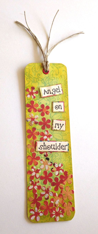Angel On My Shoulder Bookmark. Handmade Bookmark. by JoannaJeanne