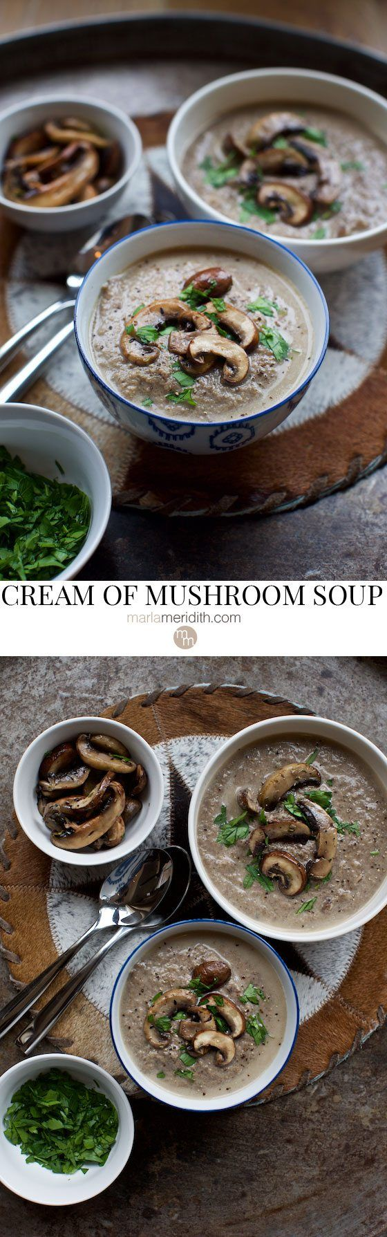 When the weather cools down, this CREAM OF MUSHROOM SOUP will warm you up! #recipe on MarlaMeridith.com ( @Marla Meridith )