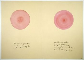 Louise Bourgeois - Sublimation, 2002 mixed media book of 15 pages each 104.6 x 147.7 cm / 41 1/8 58 1/8 in