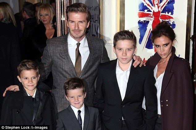 End of an era: The Beckhams are now contemplating life without David as a professional footballer