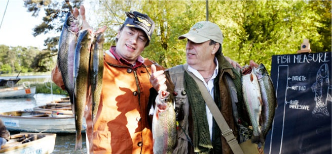Catch & Cook at Yeo Valley - we were joined by lots of our friends including Jamie Oliver & Gennaro Contaldo