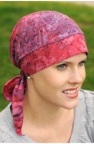 cotton batik print headwrap for chemo and hair loss