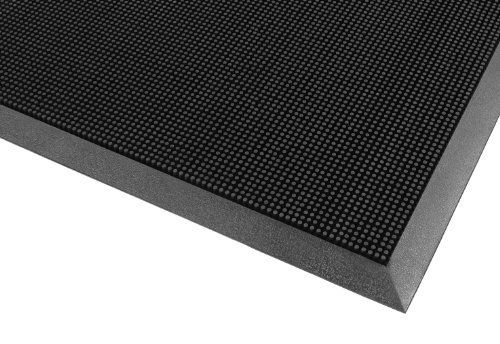 """Notrax 345 Rubber Brush Styrene-Butadiene Rubber Entrance Mat, For Construction Traffic Area and Municipal Buildings, 32' Width x 39' Length x 5/8"""" Thickness, Black by NoTrax. Save 7 Off!. $63.10. Best 345 rubber brush entrance mat. Rubber Brush mats are constructed of tough SBR rubber to remain flexible while withstanding extreme cold. Thousands of tough, flexible rubber fingers sweep shoes clean while suction cups on the underside of the mat help to minimize shifting. Due to its durable…"""