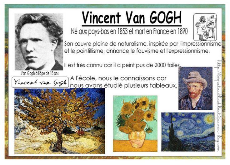 De Vincent Van Gogh, on connait son autoportrait, ses tournesols..... mais il y a aussi ses arbres. Une classe de grande section a travaillé sur les arbres de cet artiste.