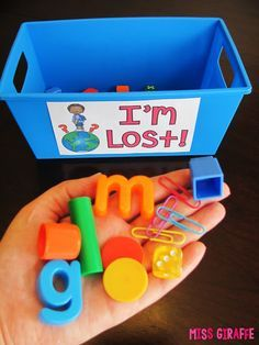 """20 Classroom Management Strategies You Can Start Right Away - Click to get this FREE """"I'm Lost!"""" label to label a bucket where lost classroom pieces can go instead of in your pocket or on your desk!"""