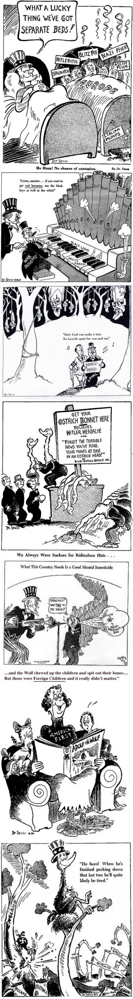 Dr. Suess used to draw political cartoons as well