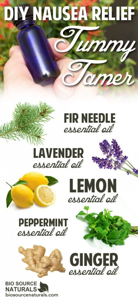 Nausea happens to all of us at one point or another, but this awesome DIY Tummy Tamer Blend can help clear your mind and tame your tummy. Get the recipe: http://biosourcenaturals.com/blog/2015/06/diy-nausea-relief-tummy-tamer-aromatherapy/