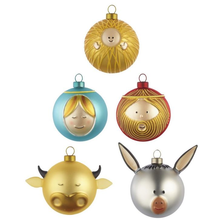 Palle Presepe Small Ornament Set by Alessi