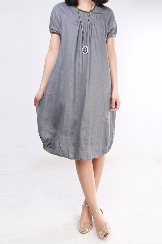 Loose Fitting Sundress Short Sleeve Summer Dress (more colour and size choice)