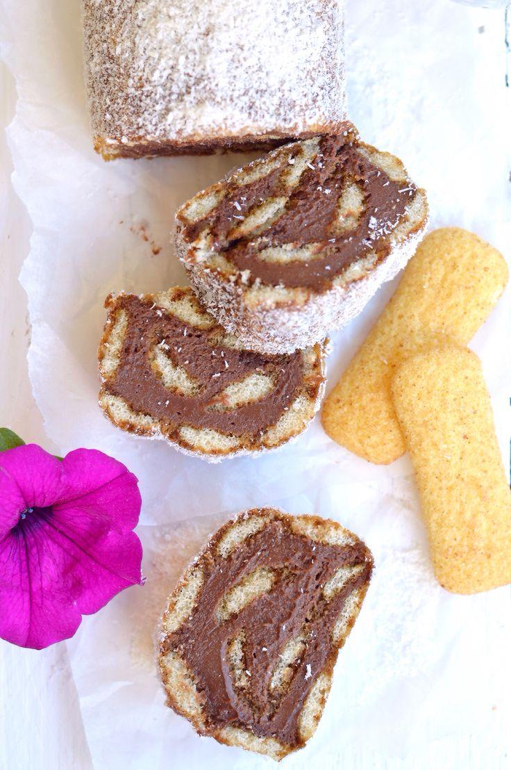 Rotolo di pavesini mascarpone e Nutella