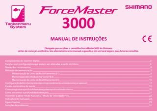 Manual carretilha Shimano Force Master 3000 português  Manual completo da carretilha elétrica Shimano Force Master 3000.