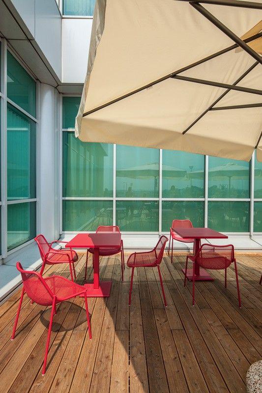 Basic Collection, Flo Cafe Liszt Ferenc tér, Budapest #cafe #budapest #design #interior #furniture #metal #red #table