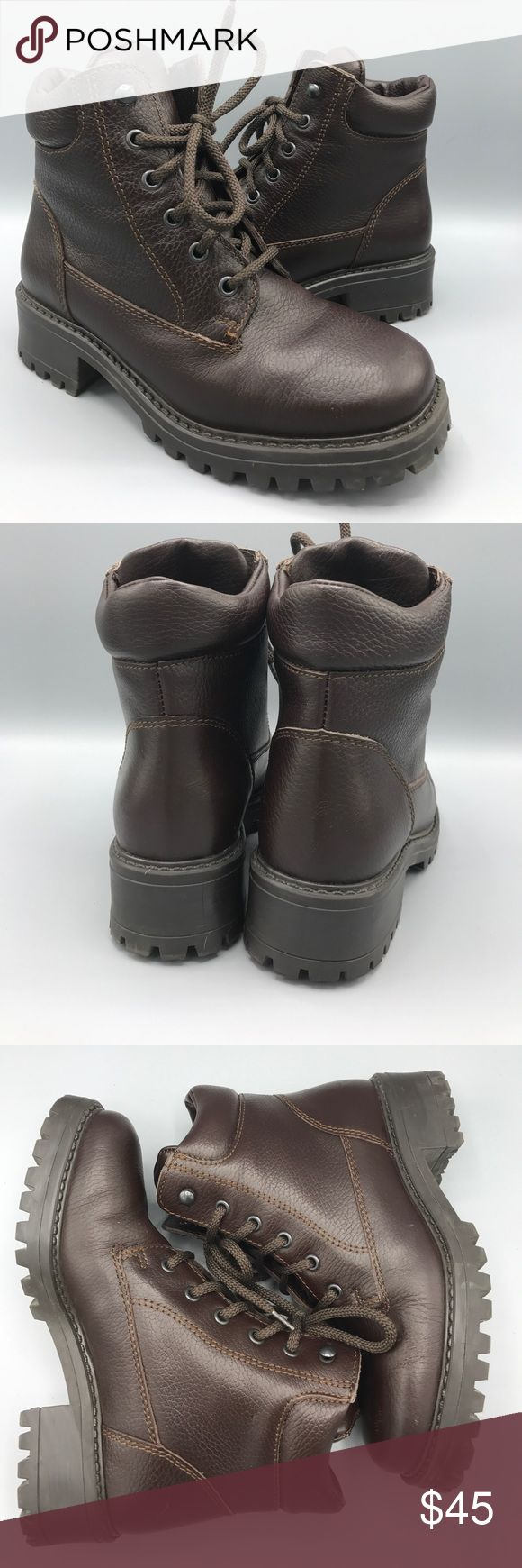 LL Bean Women's Dark Brown Leather Hiking Boot LL Bean Women's Dark Brown Leather Hiking Boot. Sz: 7.5 M OHM 9604 WORN ONCE!  Felt insulated lining. Couple small scuffs on toes. L.L. Bean Shoes Ankle Boots & Booties