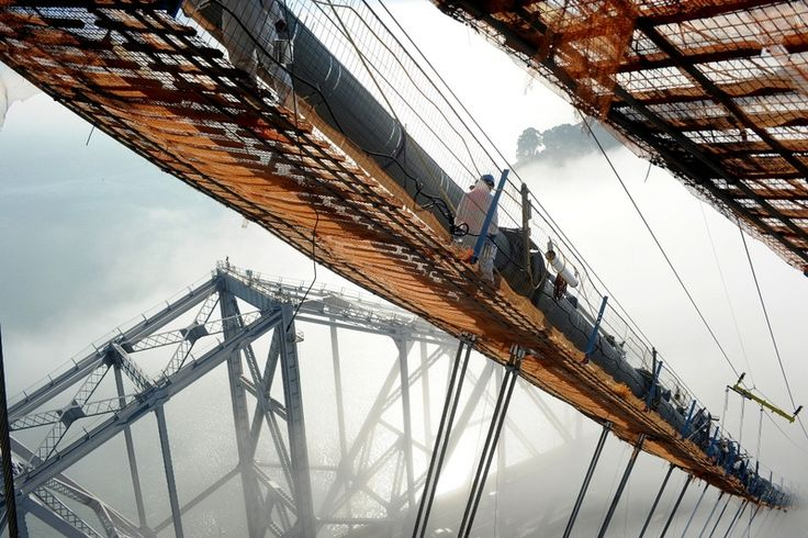 Incredible Photos from the Construction Site of the New Bay Bridge - CityLab