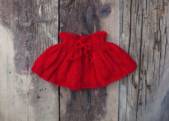 Red Baby Skirt Newborn Photo Prop Baby Girl by GabriCollection
