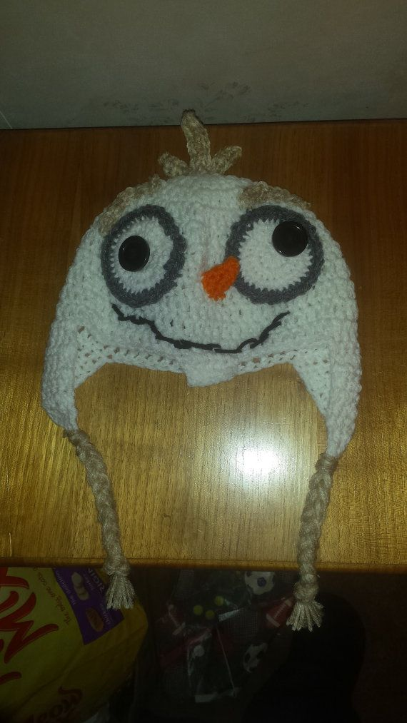 Crochet Olaf Hat Child Olaf Hat Frozen Character by MadebyMe2005