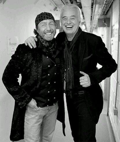 Jimmy Page (The Yardbirds-Led Zeppelin-The Firm[1984-1986] ) and Paul Rodgers (The Free-The Bad Company-The Firm-The Queen+P.Rodgers)