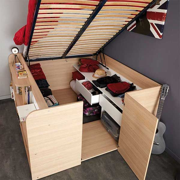 89 best images about platzsparende möbel on pinterest | chair bed ... - Bett Mit Bettkasten Platzsparende Idee