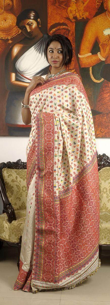 Assam muga silk saree